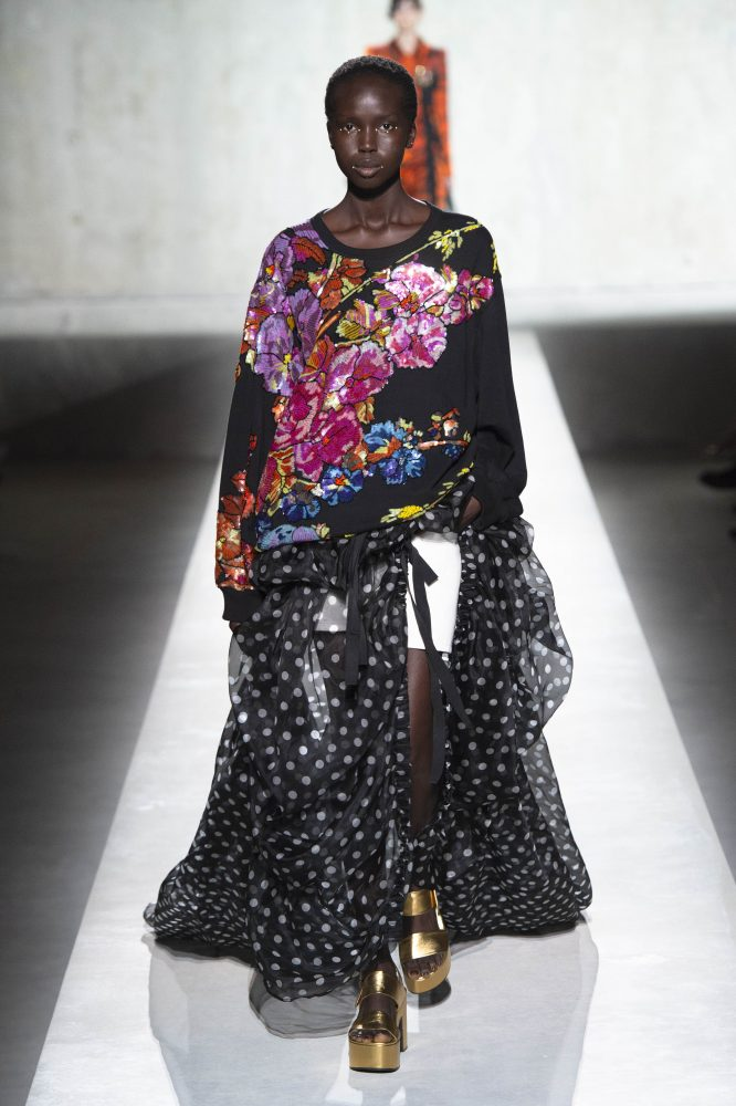Dries Van Noten x Christian Lacroix – FULL COLOR EMBROIDERY FLORAL OVERSIZE (HKD 15,500)