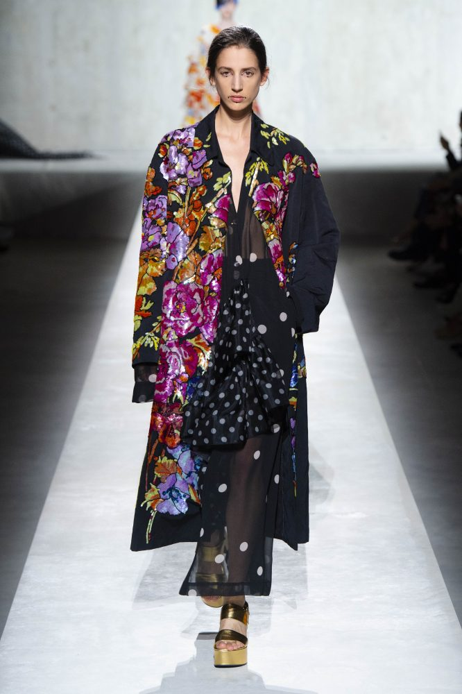 Dries Van Noten x Christian Lacroix – LONG POLKA DOT RUFFLE ROBE (HKD 13,900)