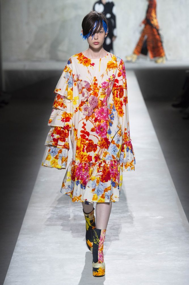 Dries Van Noten x Christian Lacroix – FLORAL RUFFLE SLEEVE DRESS (HKD 12,500)