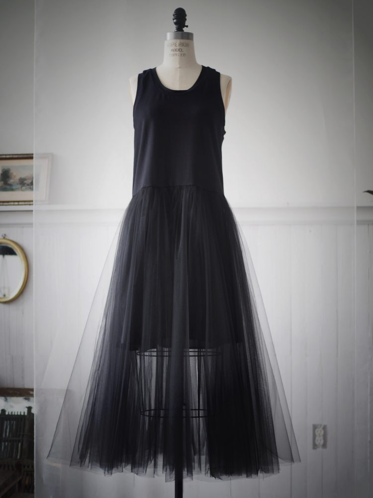 BLACK TANK CRINOLINE DRESS